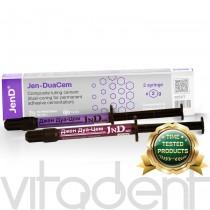 """Джен-ДуаЦем (Jen-DuaСem, """"JnD"""") адгезивный цемент двойного отверждения, 2х2г."""