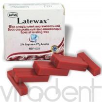 """Латевакс Ресовакс (Latewax, """"Латус"""") воск выравнивающий темно-красный, упаковка 27г."""