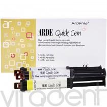 """Арде Квик Цем (Arde Quick Cem, """"Ardenia"""") двухкомпонентный текучий композит для фиксации, 5мл (8г)."""