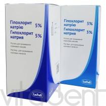 """Гипохлорит натрия 3% (Sodium Hypochlorite, """"Латус"""") дезинфицирующий раствор, 100мл."""
