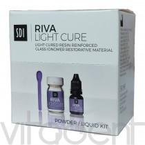 """Рива Лайт Кюре (RIVA Light Cure, """"SDI"""") цемент стеклоиономерный светоотверждаемый, 15г+7,2мл."""