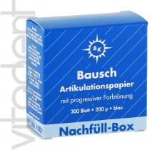"""Артикуляционная бумага (Articulating paper, """"Bausch"""") ВК1001, синяя, 200μ, 300 листов."""