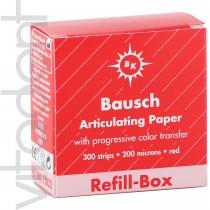 """Артикуляционная бумага (Articulating paper, """"Bausch"""") ВК1002, красная, 200μ, 300 листов."""