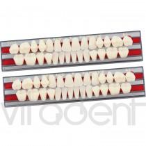 """Фул Сет (Full Set, """"Yamahachi Dental"""") зубы акриловые двухслойные, планка: 28шт."""