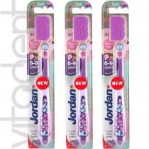 """Зубная щетка (Step 3, """"Jordan"""") детская от 6 до 9 лет, с колпачком."""