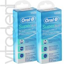 """Супер флосс (Super Floss, """"Oral-B"""") зубная нить, 50 нитей."""