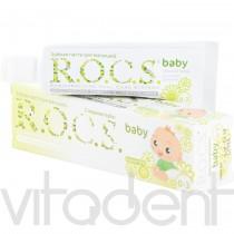 """Зубная паста (baby, """"R.O.C.S."""") Душистая ромашка, 0-3лет, 45г."""