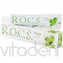 """Зубная паста (""""R.O.C.S."""") Энергия утра, со вкусом двойной мяты, 74г."""