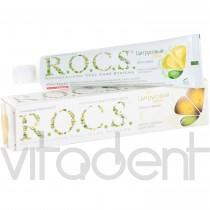 """Зубная паста (""""R.O.C.S."""") Цитрусовый джаз, cо вкусом лимона и мяты, 74г."""