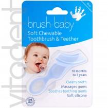 """Силиконовый грызунок (Chewable Toothbrush, """"Brush-Baby"""") жевательная зубная щетка, от 10 до 36 месяцев, 1шт."""
