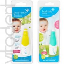 """Электрическая зубная щетка (BabySonic, """"Brush-Baby""""), от 0 до 3 лет, 1шт."""