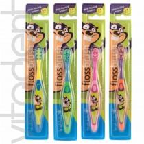 """Зубная щетка (FlossBrush, """"Brush-Baby""""), 3-6лет, 1шт."""